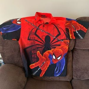 Spider-Man button up shirt